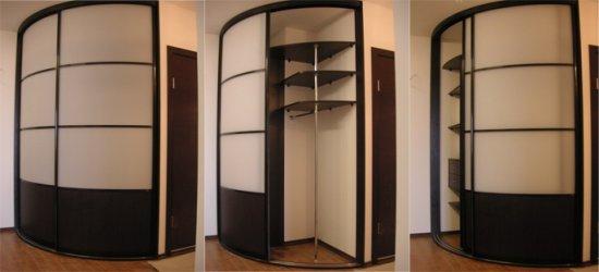 Шкафы и радиусные шкафы купе на заказ